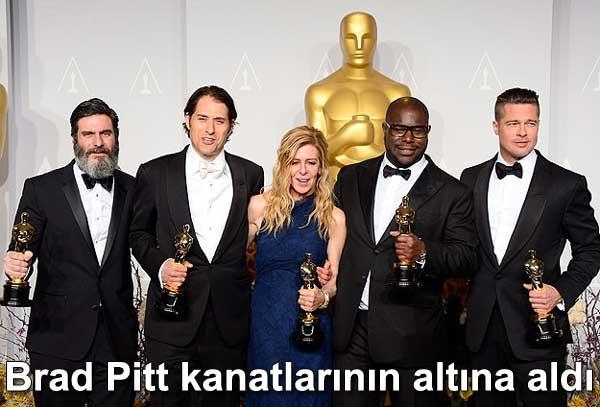 Brad Pitt, Lupita Nyong'o, Angelina Jolie, Plan BEntertainment, 12 Yıllık Esaret, 12 Years a Slave, oscar, oskar ödülleri, ödüllü, film, filmler,  | Dünyadan Magazin 11-1 Çeviri: Belgin Elçioğlu Belgin Invictus